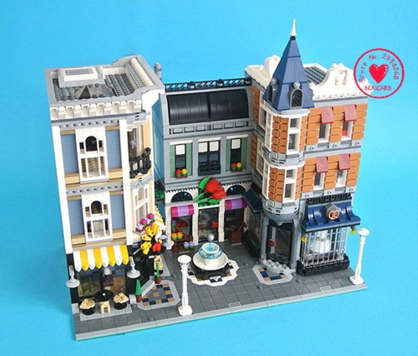 4002Pcs LEPIN 15019 Assembly Square Creator City Series Model Building blocks Kits Brick Toy Compatible 10255 loymina обои loymina 4002 laс4 002