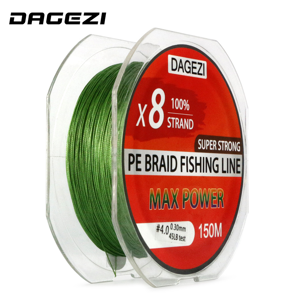 DAGEZI Super Strong With Gift 8 strand 150m 10-80LB brand fishing lines 6colors 100% PE Braided Fishing Line smooth line dagezi super strong 4 strand 300m 330yds 100% pe braided fishing line 10 80lb multifilament fishing line carp fishing saltwater