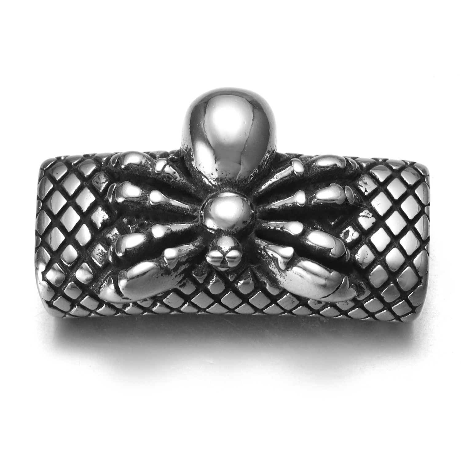 2 Stainless Steel Spider Flat Strong Magnetic Clasp For Up To 13mm Leather Cord