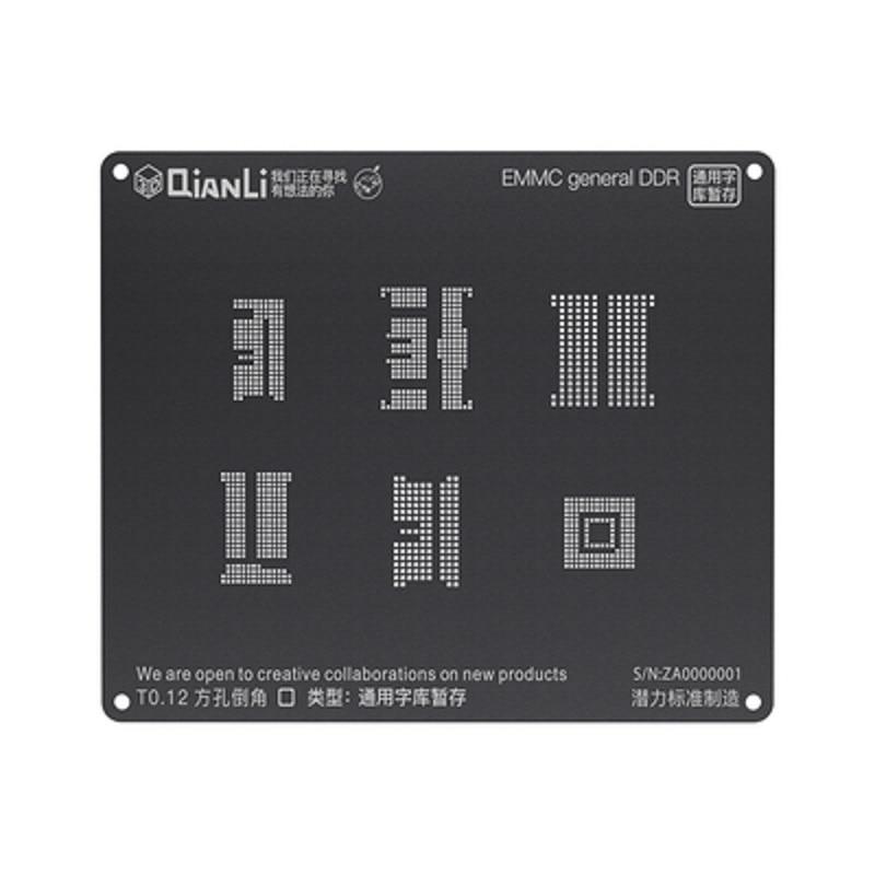Qianli IBlack 3D BGA Reballing Stencil Kit For Android Qualcomm EMMC DDR MTK 6582 MSM8916 8917 8909 8939 8953 8940 Kirin 665 659