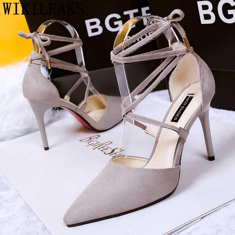 Lace up tacchi di san valentino scarpe fetish degli alti talloni sexy delle pompe delle donne scarpe tacchi delle signore scarpe di marca delle donne di lusso 2019 talon femme
