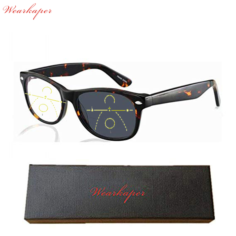 8f1cc9ad72 Cheap Gafas de sol de transición Multifocal progresivo acetato WEARKAPER  gafas de lectura fotocromática hombres puntos