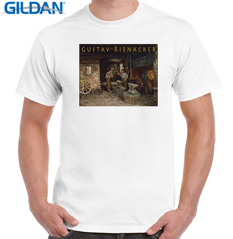 Make Your Own T Shirt Short Sleeve Blacksmith Shop By Rienacker Print Crew Neck Tee For Men