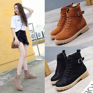 2023c3984b2 YOUYEDIAN Women Lace-up Leather Boots Casual Martin Shoes