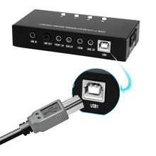 Высокое Качество Абсолютно Новый 4-канальный 3D 7.1 USB Внешний Звук карта Sound Box Поддержка Цифрового Потокового Аудио Vista С Водителем CD