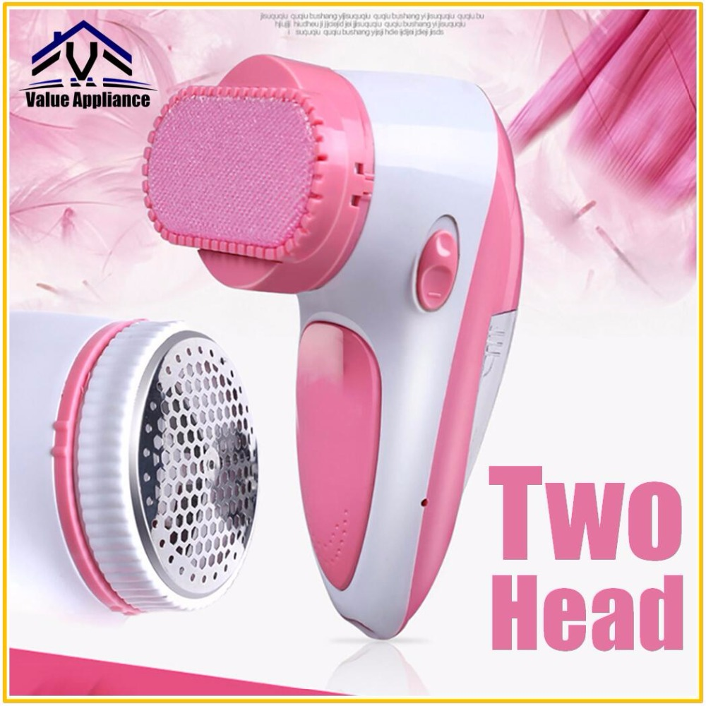 Two Head 2 in 1 Electric Lint Remover Fluff Pellet Quilt Ball Clip Machine Fabric Shaver Lint Removers with Hair Remover Blush two tone hair clip 6pairs
