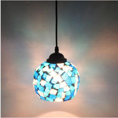 light continental retro bar lamps club Pendant Lights Westernfood restaurant art mosaic glass pendants lamps DF136