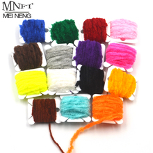 MNFT 15 Card Color Fly Fishing Tinsel Chenille Fly Tying Material Tinsel Line Chenille Yarn For Streamer/Nymphal Bug Fly Fishing