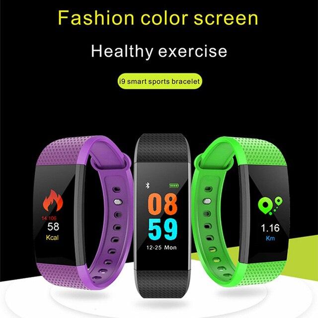 i9 IP68 Waterproof Smart Bracelet Heart Rate Monitor Blood Pressure Fitness Tracker Smartband Sport Watch for smart watch men