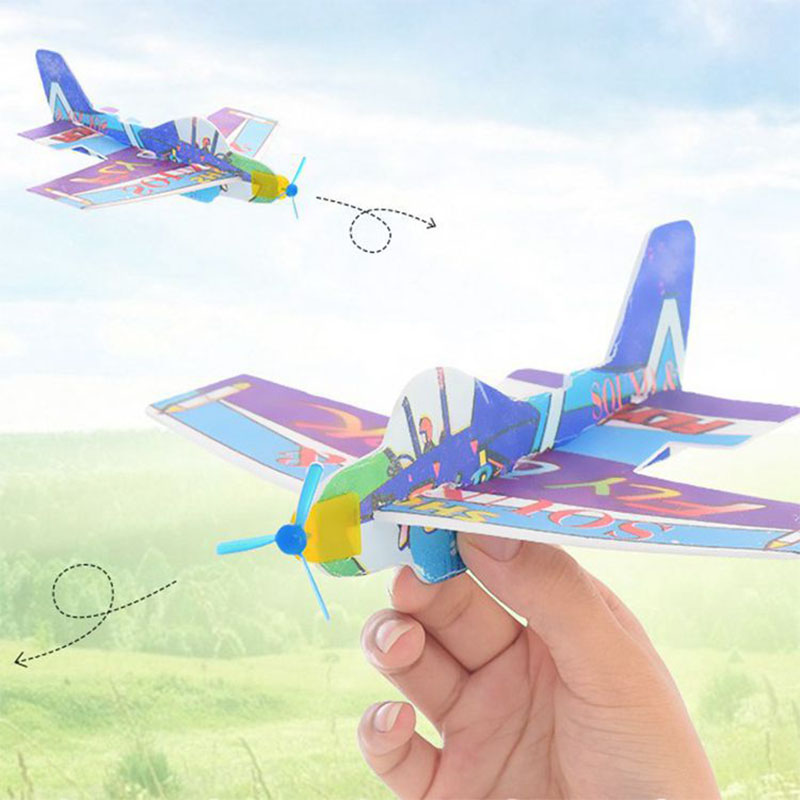 NEW Throwing Airplane Free-flying 360 Circle Wing Foam DIY Plane Model Educational Toys For Children Kids Capacitor Outdoor Toys