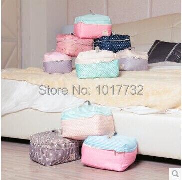 2 Pcs/lot Baby Clothes Storage Bag Sorting Bag Cartoon Fabric Underwear Bra  Socks Storage