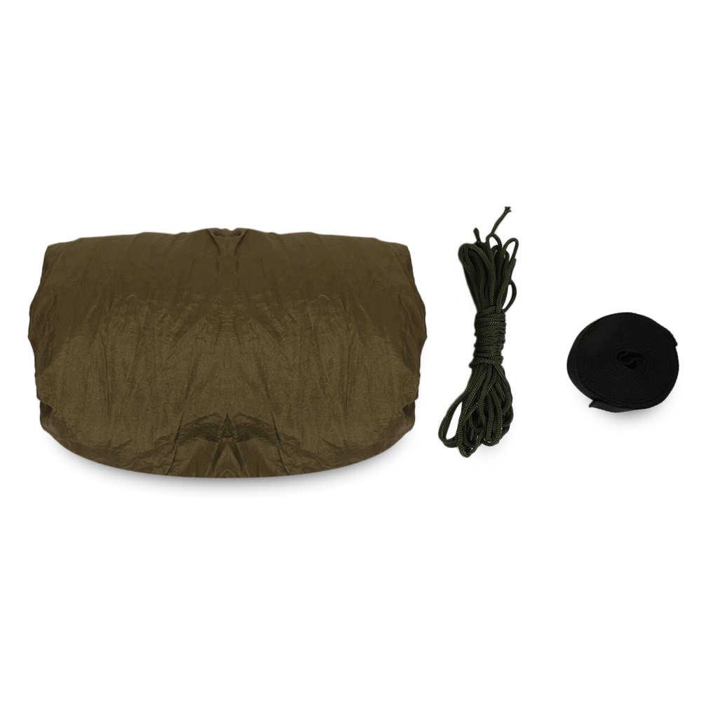 1-2 人の屋外キャンプハンモック吊リラックス睡眠ベッド蚊帳キャンプハンモックストラップアーミーグリーン睡眠ベッド