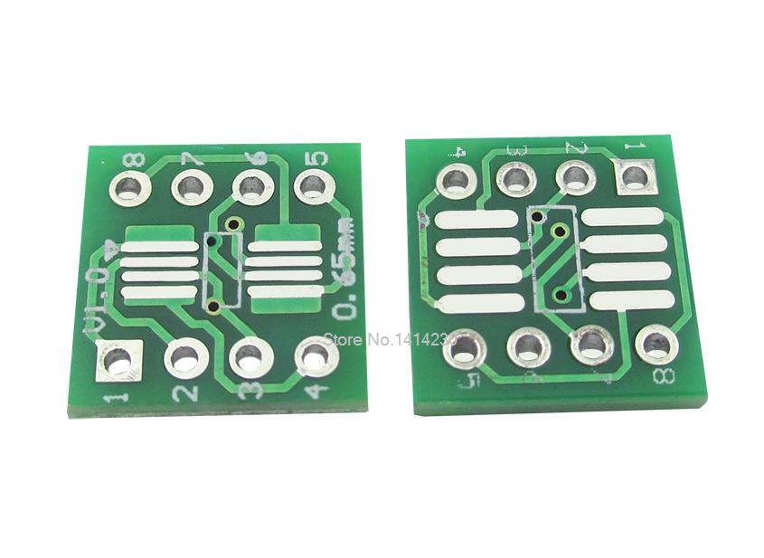 5PCS/LOT SOP8 MSOP8 SOIC8 TSSOP8 SOP8 Turn DIP8 IC Adapter Socket Adapter Plate PCB
