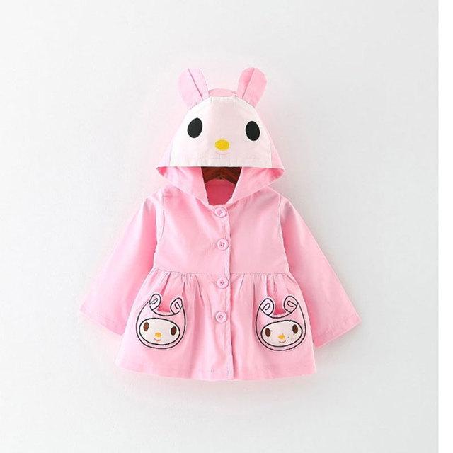 Niñas ropa de bebé traje de chaqueta con capucha abrigos para 2017 primavera infantil del bebé clothing chica marca ocasional de los deportes ropa de abrigo y abrigos