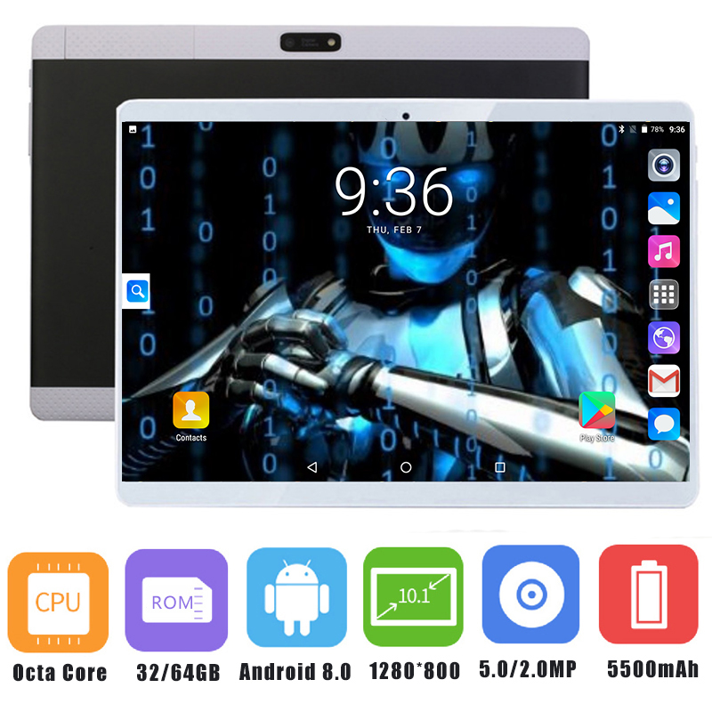 10inch Tablet Android Mini Sim-Card Phone-Call 4G LTE Core Pad 2G 4GB Pc 3G IPS LCD 1280--800
