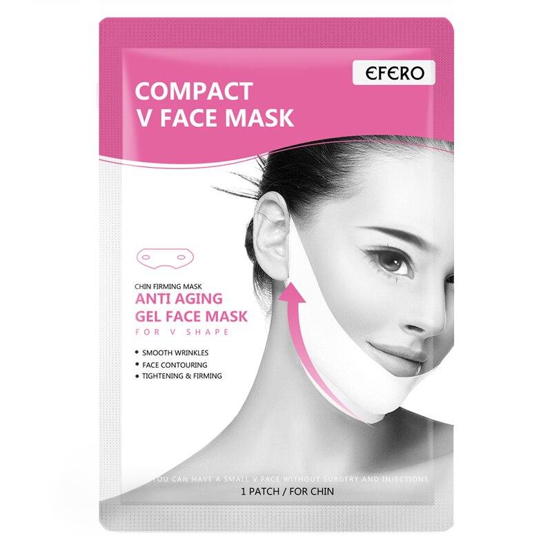 EFERO 2pcs Lift Up V Face Chin Masks Smooth Peel-off Wrinkle Cream Cheek Slimming Mask Bandage Gel