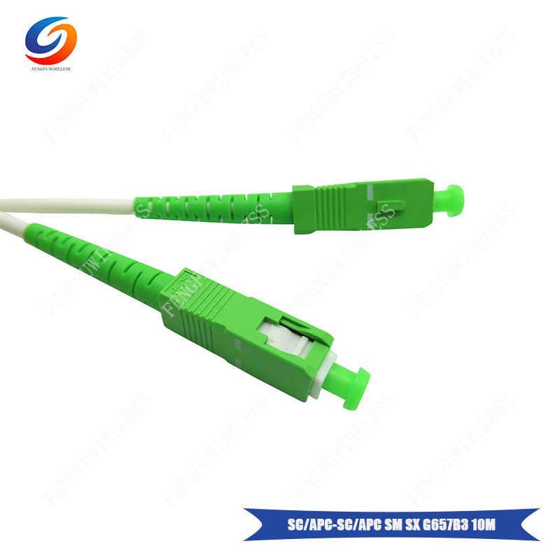 Лидер продаж 1 шт. SC/APC-SC/APC Singlemode Simplex G657B3 10 м LSZH 4 мм патчкорд из оптического волокна с белым цветом Бесплатная доставка