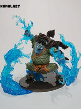 KUMALAZY One Piece Figure JINBE Blue Effect DXF SC SCultures VI 16CM PVC Action Figure Anime Toy Collection Model Gift