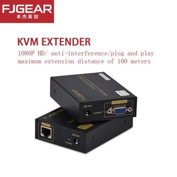 KVM Extender Super Quality 330ft VGA  + USB Signal KVM Extender Over Cat5 Cat5e Cat6 RJ45 Cable No Delay Loss VGA Transmitter