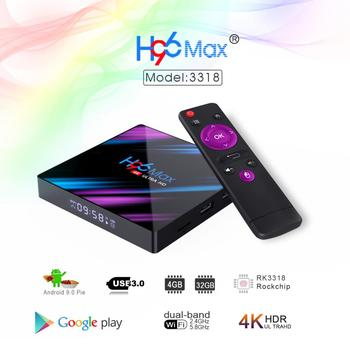 H96 MAX 4K Media player Android 9.0 Smart TV Box RK3318 Quad Core Set Top BOX Support 3D HDMI IPTV Netflix Youtube