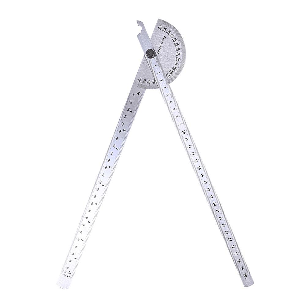 Règle dangle avec Rotation de 180 degrés, rapporteur en acier inoxydable, règle dangle de mesure rotative pour menuiserie, outil dartisan