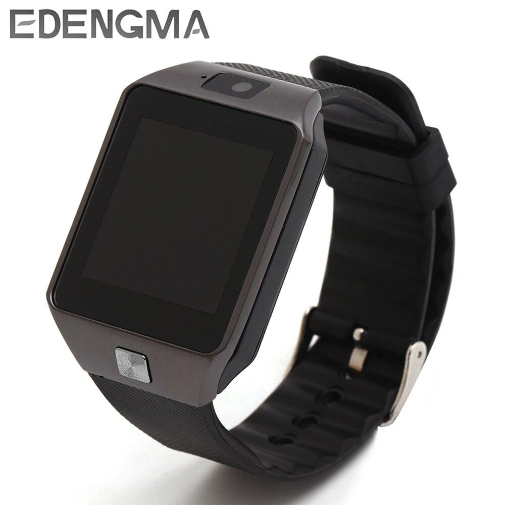 EDENGMA smart watch dz09 Bluetooth Smartwatch dz09 dispositivos Android llamada de teléfono SIM TF los hombres reloj de pulsera para mujer
