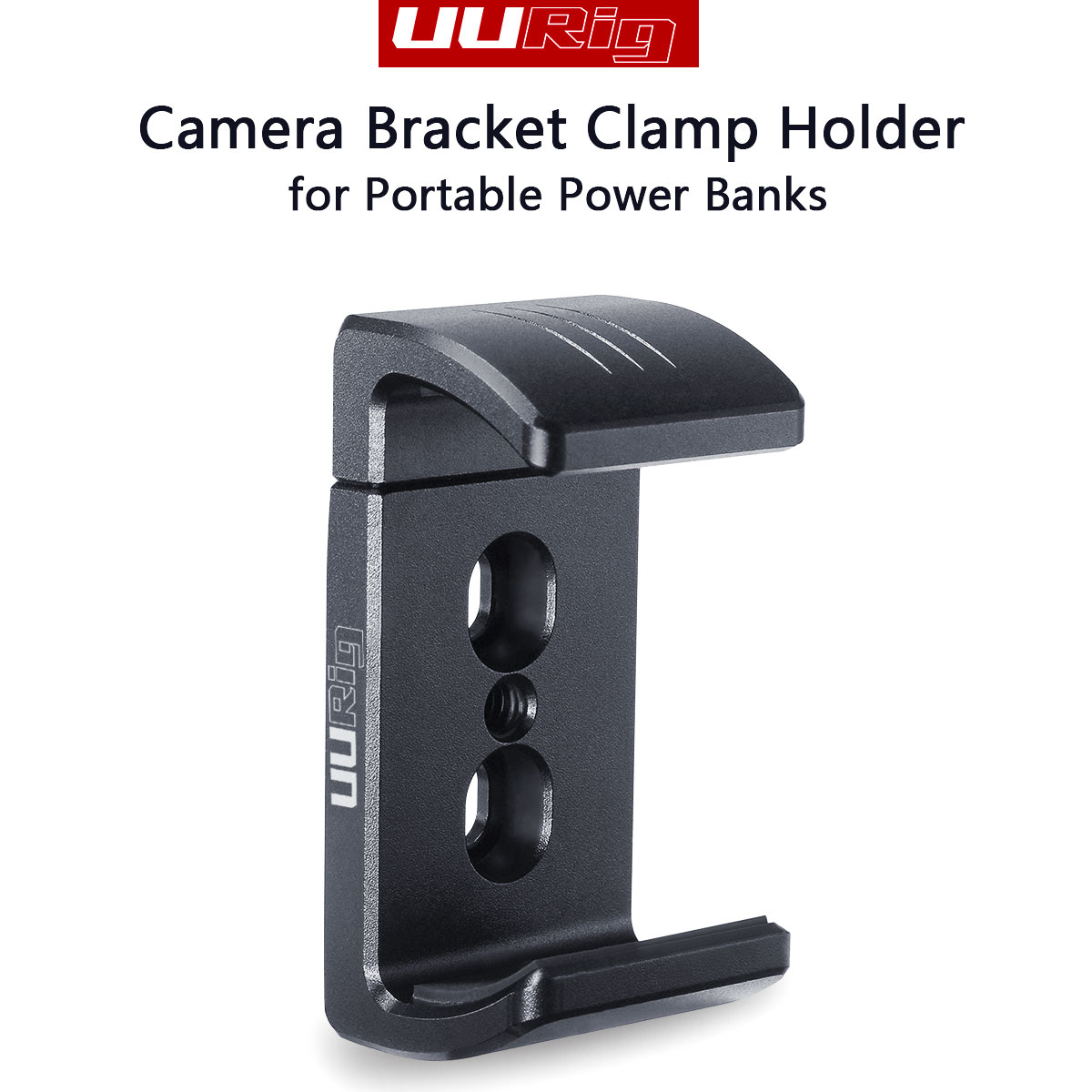 UURig R010 DSLR Camera Cage Bracket Clamp Holder Portable Aluminum Alloy Power Bank Mobile Phone Extendable Clip With 1/4 Screw