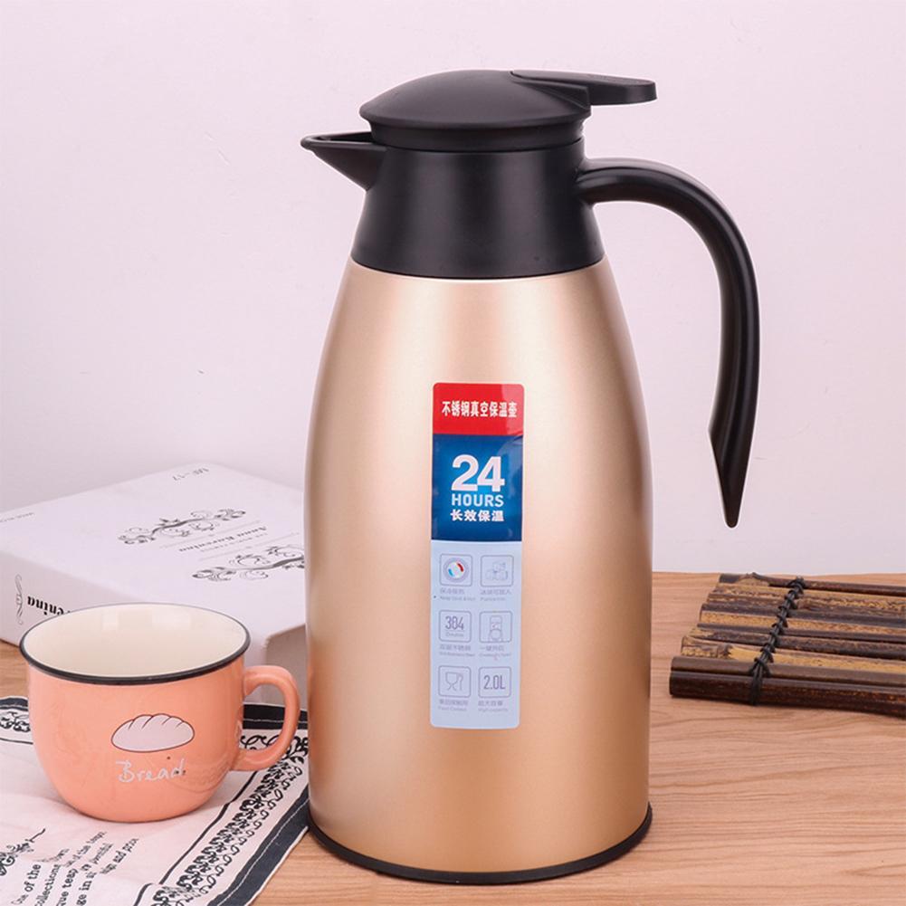 2000ml Stainless Steel Thermal Flask Jug Coffee Pot Vacuum ...