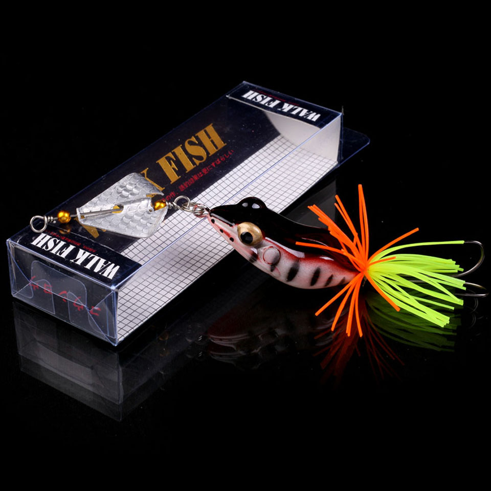 WALK FISH 1PCS 135mm 9g Fishing Lures Treble Hooks Topwater Ray Frog Minnow Bait Crankbait Wobblers 3D Eyes Fishing Tackle wldslure 1pc 54g minnow sea fishing crankbait bass hard bait tuna lures wobbler trolling lure treble hook