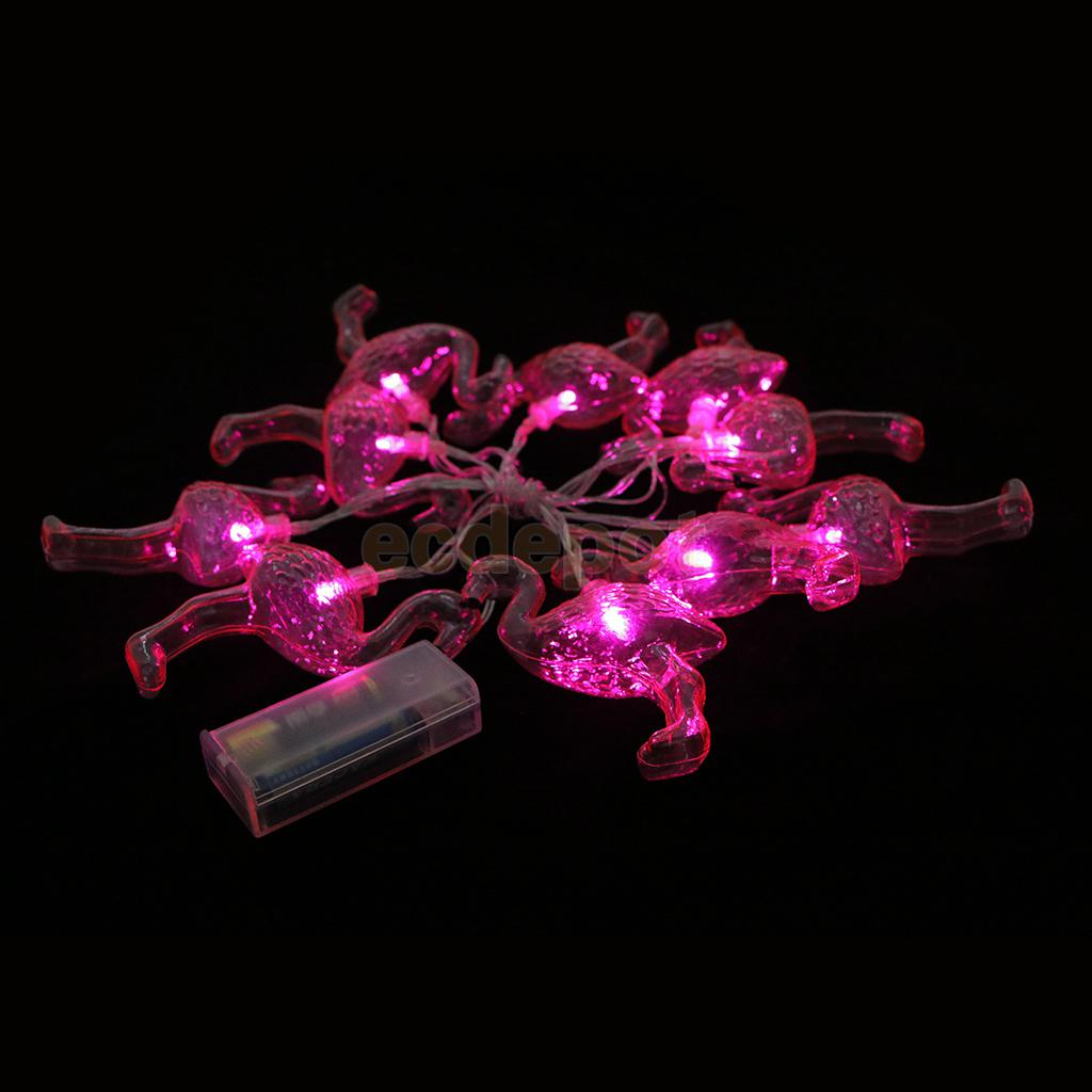 Pink Flamingo Led Bulbs String Light Battery Operated Garland Fairy For Home Wedding Party Decor 1 65m In Diy Decorations From Garden On