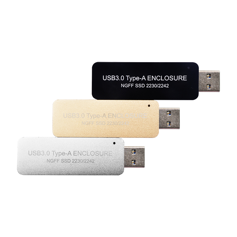 WBTUO LM-741U USB3.0 TYPE-A TO NGFF SSD Enclosure Without Cable For 2230 Or 2242 MGFF(M.2) SSD Q19894/6