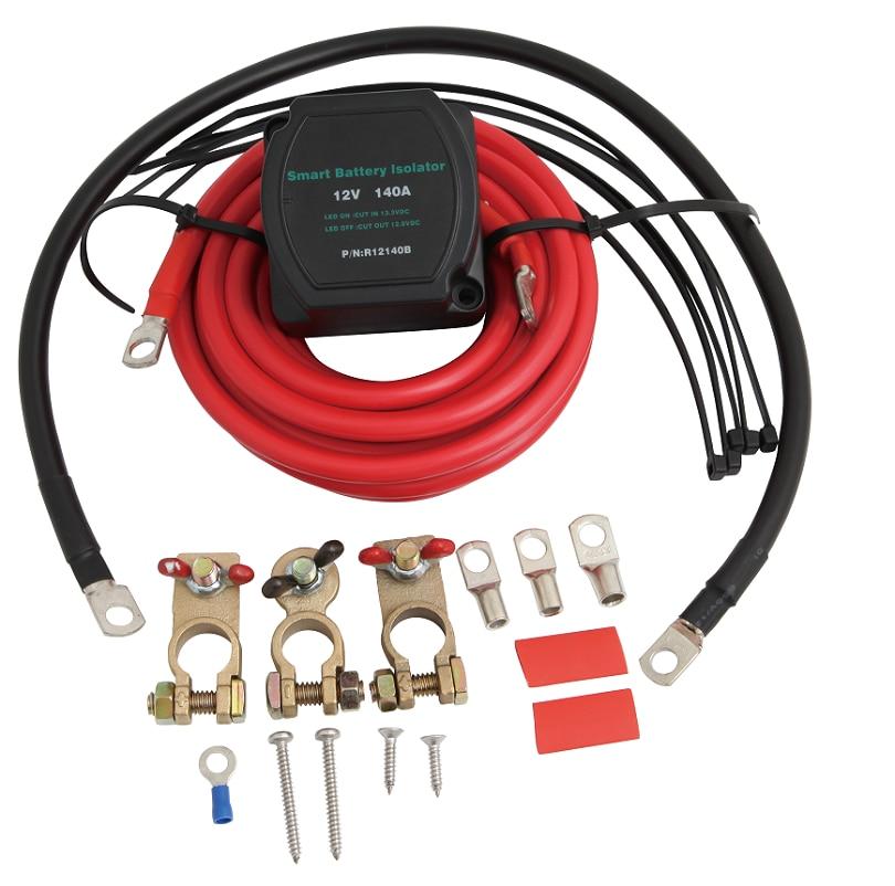 TopMonKing 12 V 140A Double Batterie Isolateur Commutateur Marine Bateau Batterie Interrupteur Tension Sensible Relais