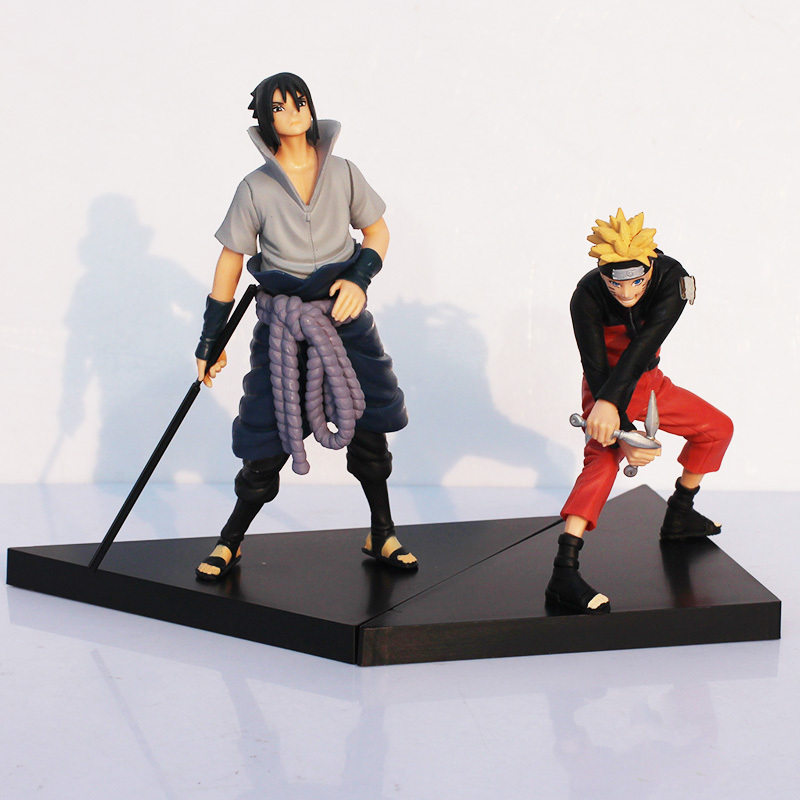 Naruto Figures Uzumaki Naruto Uchiha Sasuke PVC Action Figure Toy Cartoon Anime Action F ...