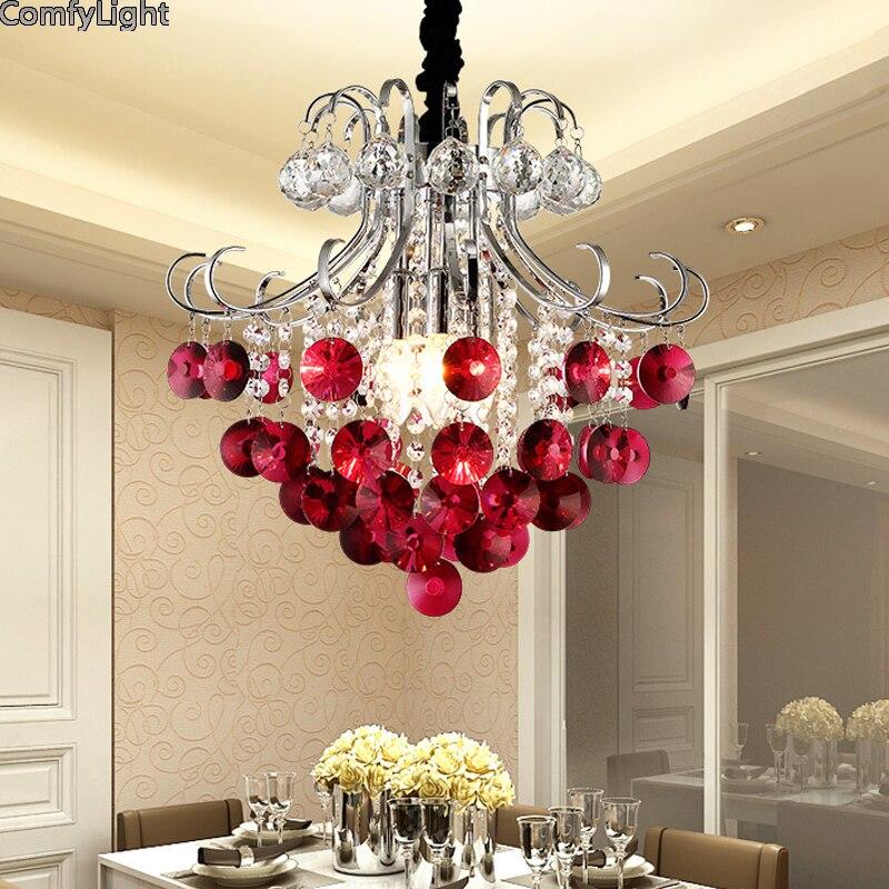 Роскошный хрустальный светильник, светодиодный хрустальный ресторан, спальня, ампер, люстры для дома, хрустальные подвески, блеск для гости