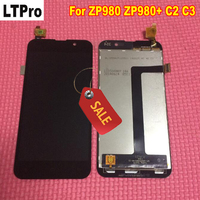 Black Color TOP Quality Full LCD Display Glass Touch Screen Digitizer Assembly For Zopo C2 C3