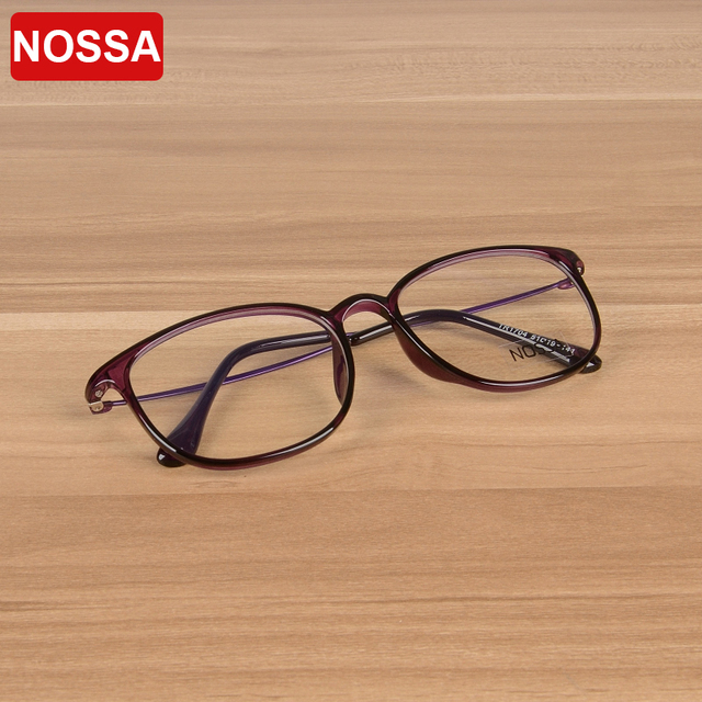 43e6099ba6e NOSSA New Fashion Women And Men TR90 Ultralight Glasses Frame Myopia  Prescription Optical Frame Elegant Female