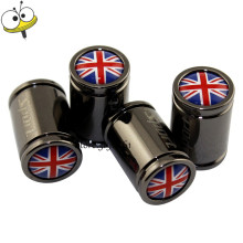 For Union Jack Logo Auto Car Accessories Tire Valve Wheel Center Caps For Jaguar MG Citroen Peugeot Audi Honda BMW Benz Clubman