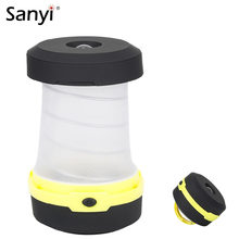 Multifunction Retractable Outdoor Camping Lights 3 Modes LED Flashlight Portable Lantern Tent Light Emergency Lamp Torch Light(China)