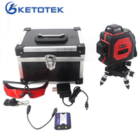 KETOTEK 3D 12 Lines Laser Levels Self Leveling 360 Horizontal And Vertical Cross Super Powerful Red