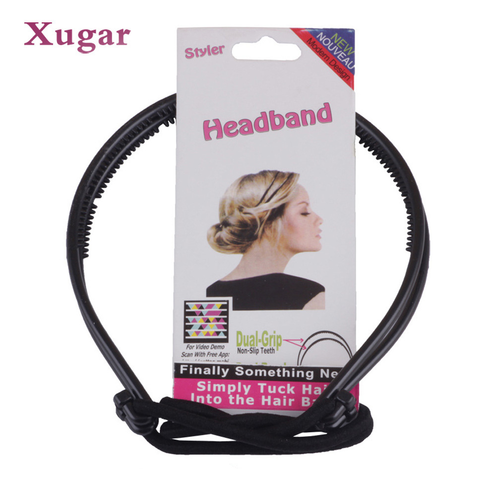 design double root hair band