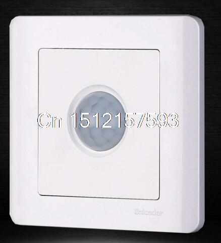 one gang luxury white infrared PIR motion sensor wall switch