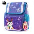 Cocomilo милый детский рюкзак  детская ортопедическая школьная сумка для девочек с рисунком снега  большая школьная сумка для детей в стиле ани...