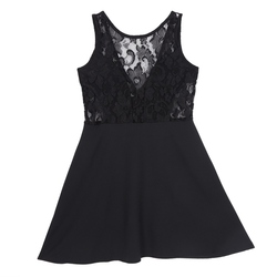 Vestidos  Summer Elegant Women Casual Dresses Solid Sleeveless Slim Lace Mini Dress 4