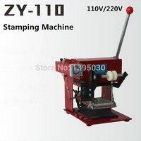 1 sztuk ZY-110 instrukcja maszyna tłoczenie folią na gorąco instrukcja skóra tłoczenie stamper obszaru Drukowania maszyny 110*120 MM