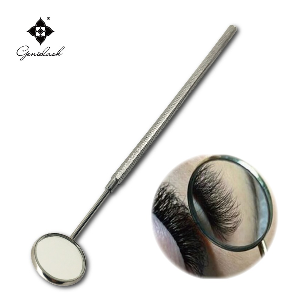 Makeup mirror for checking eyelash extension stainless steel dental mirror Removable makeup tools