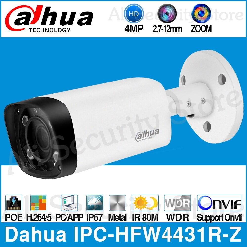 Dahua Câmera IP POE 80 4MP IPC-HFW4431R-Z m MAX Noite IR 2.7 ~ 12mm VF lente Zoom Motorizado Auto foco CCTV Bala Câmera de Segurança