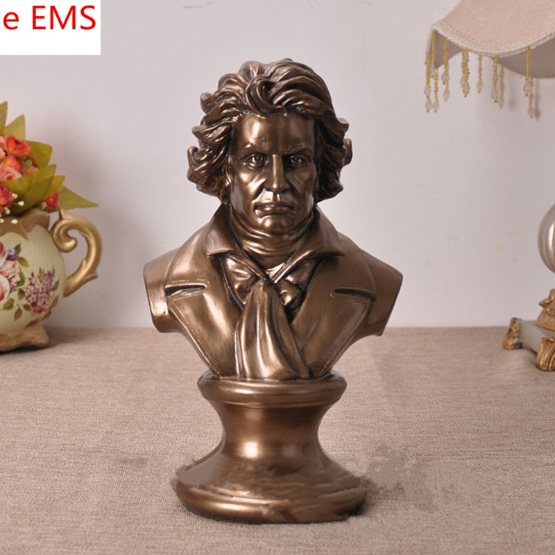 Gypsum Ludwig Van Beethoven Bust Statue Franz Joseph Haydn Resin Craftwork Home Decorations Art Material L2333 pianist composer ludwig van beethoven bust figure sculpture imitation white marble colophony crafts living room decoration g1008