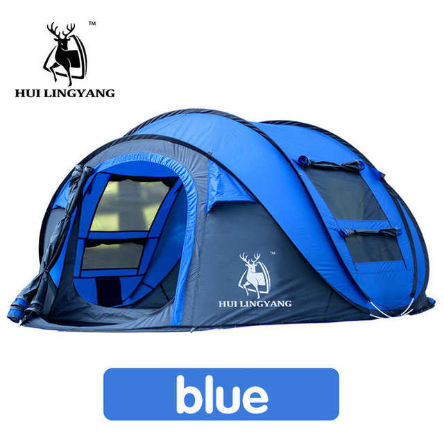 Outdoor Automatic Tents Throwing Pop Up 3 4 Person Windbreak Large Camping Tent Waterproof Beach