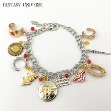 FANTASY UNIVERSE Freeshipping 1pcs a lot Wonder woman charm bracelet CNFIO01