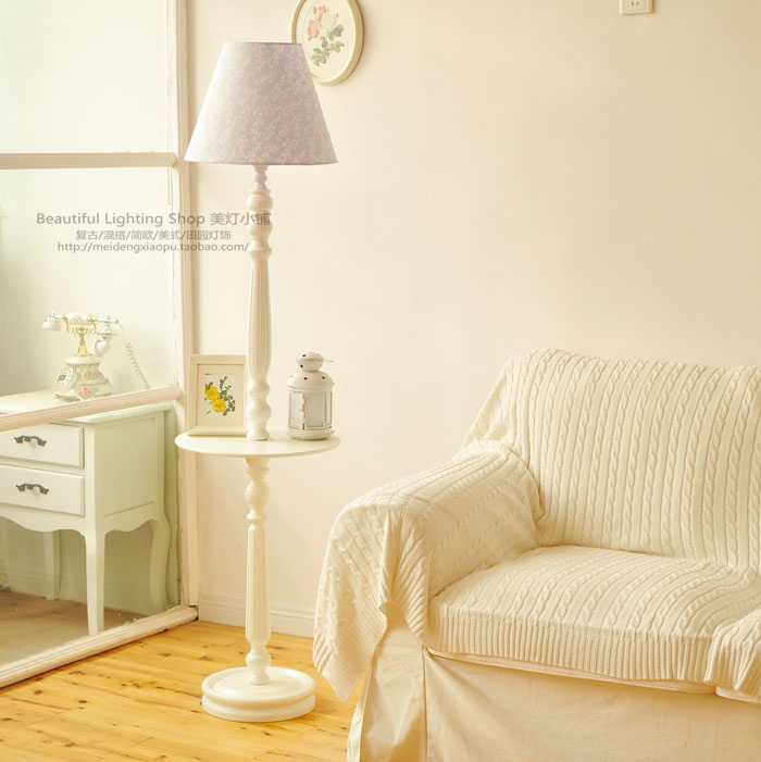 Floor lamp simple European French countryside retro mash Nordic bedroom bedside lamp Dec ...